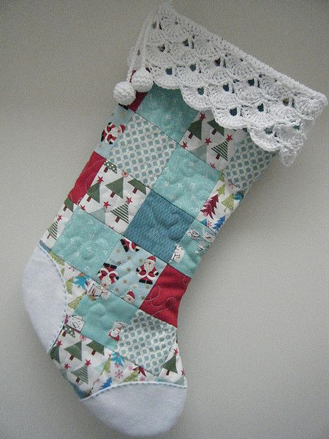 Patchwork Christmas Stocking   by Betsy Makes