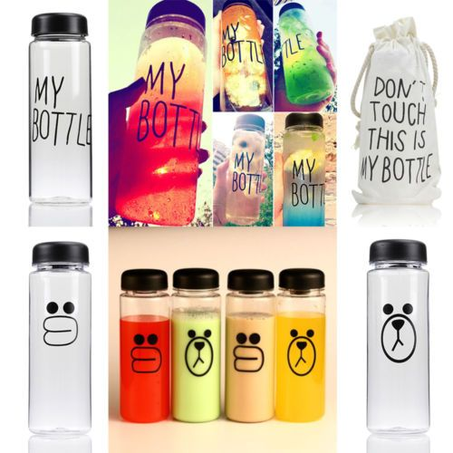 500ml drinks fruit #juice #water cup cute my bottle tumbler & #portable canvas ba,  View more on the LINK: http://www.zeppy.io/product/gb/2/131599254763/