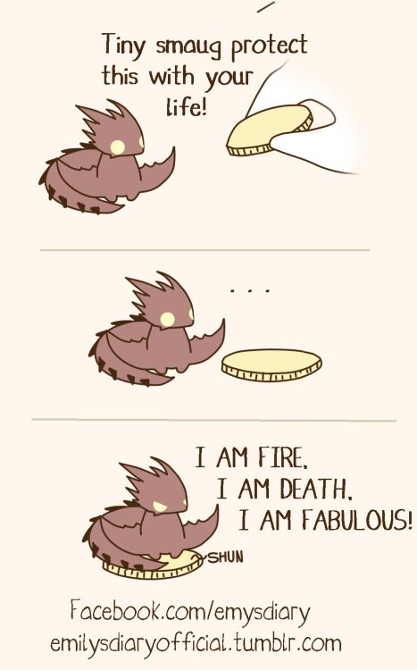 Who else wants their own Tiny Smaug?! #dragons