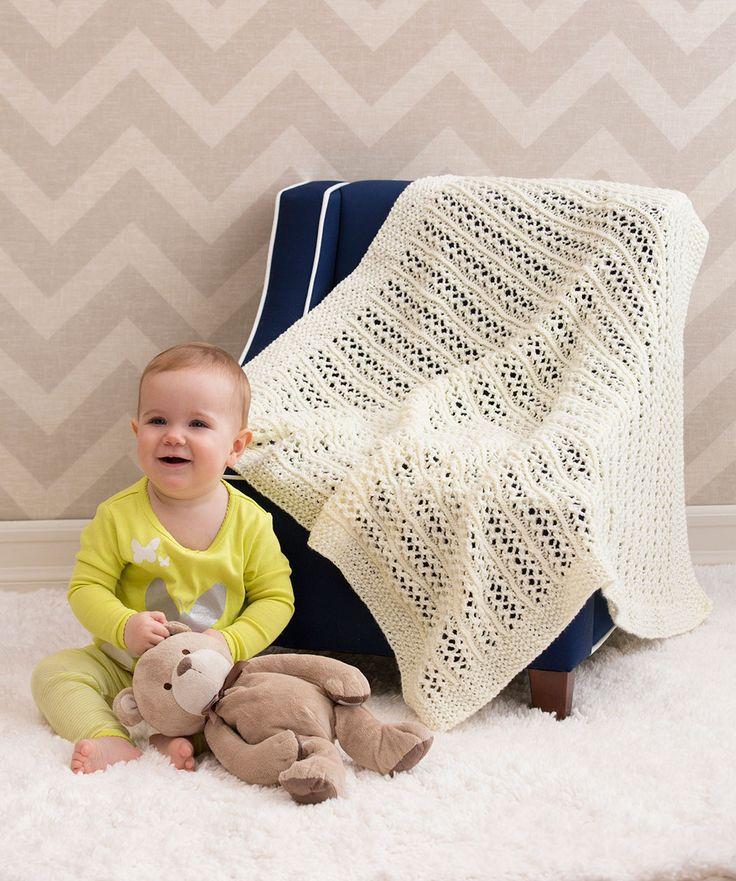 Diese+Decke+hat+das+Zeug+zum+Erbstück+und+kann+Generationen+von+Babies+schön+warm+halten!+Das+streifenartige+Muster+sieht+besonders+einfarbig+toll+aus!