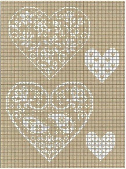heart cross stitch chart - no link