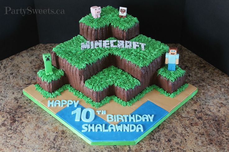 Buttercream Minecraft | Party Sweets Cake Decorating