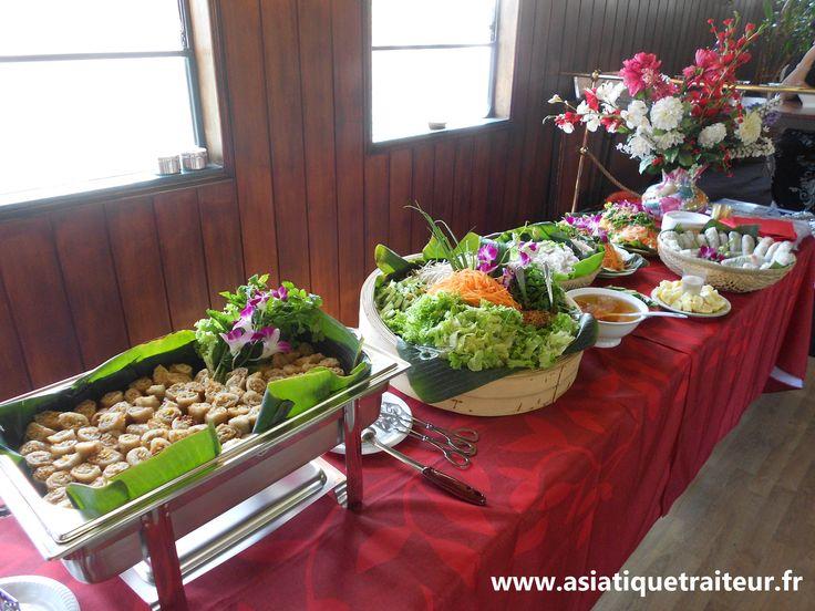 Réception traiteur asiatique