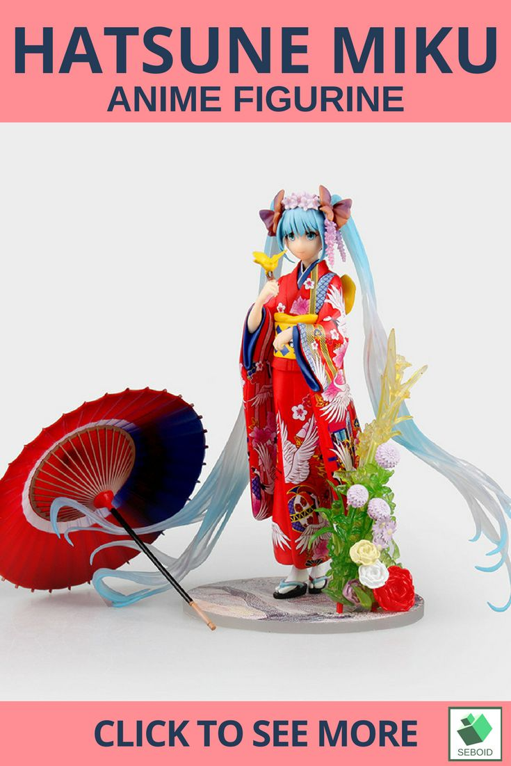 Hatsune Miku Kimono Action Figurine| $42 .  Ths beautiful and elegant Hatsune Miku comes with accessories so you can make a beautiful effect to her. Her Kimono has a japanese traditional pattern to make her even looks stunning. You can have this rare figure on https://www.etsy.com/shop/SEBOID to appreciate her and japanese culture ^^