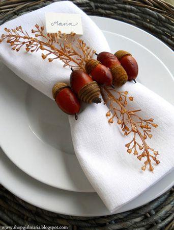 Rond de serviette sur le thème de l'automne