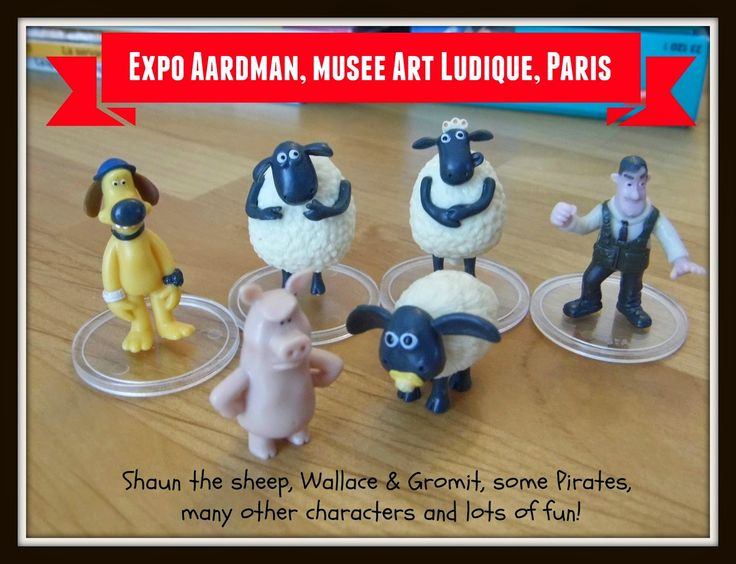 Expo Aardman: Shaun the sheep, Wallace & Gromit, Pirates, Chicken Run, etc. Paris, Musée Art Ludique. Printemps/été 2015. Une expo à ne pas rater! / A must-see exhibit!