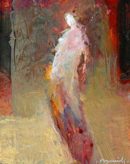 Figure in landscape,color and light! light on top darks lower on figure