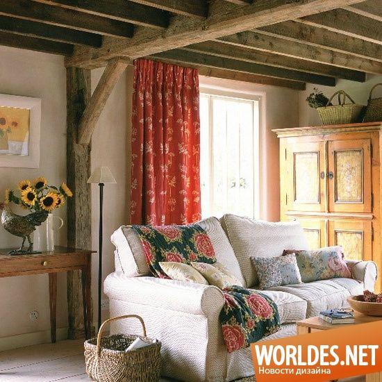 Уютные гостиные в деревенском стиле фото 21