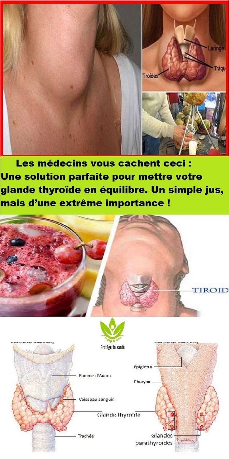les m u00e9decins vous cachent ceci   une solution parfaite pour mettre votre glande thyro u00efde en