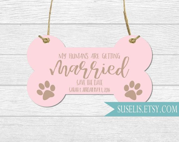 Personalized Engagement Photo Prop Dog sign My humans by Suselis