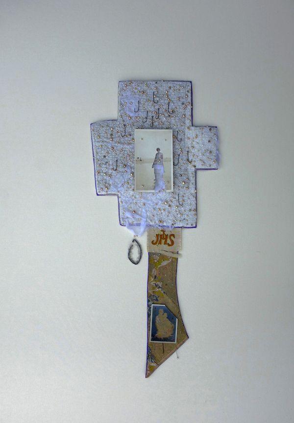 Cross Felting, application, embroidery Marijke Leertouwer