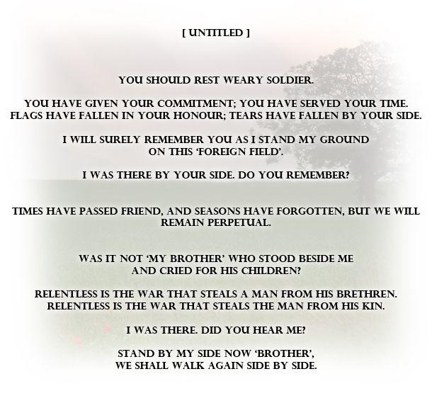 Best 25+ Soldier Poem Ideas On Pinterest