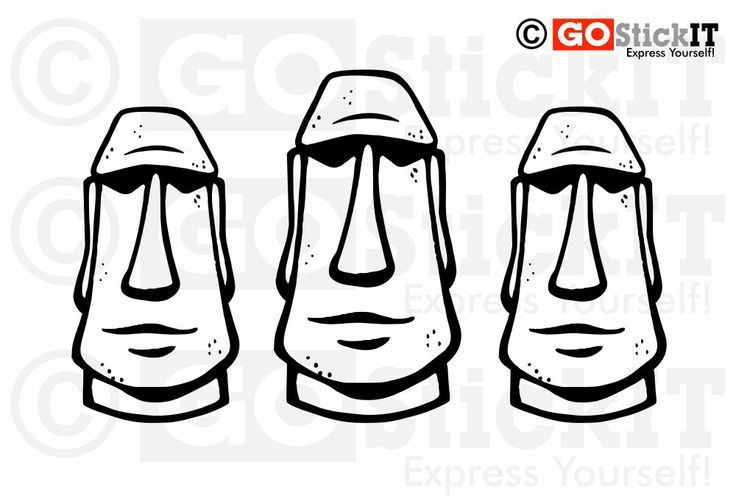 moai coloring pages Home Living