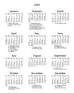 Thumbnail of plain calendar