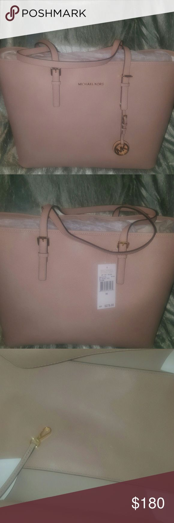 Brand New Authentic Michael Kors Jet Set Tote Brand New Authentic Michael Kors Jet Tote in Blush!!! Bags Totes