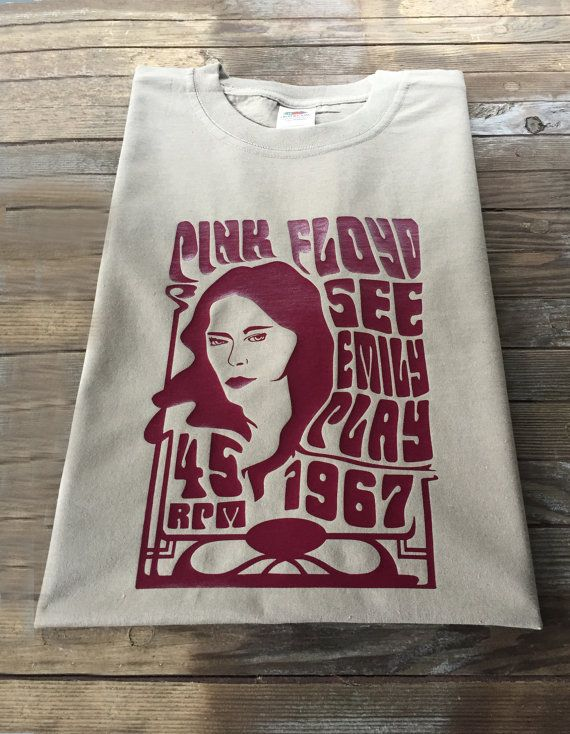 Erwachsenen Pink Floyd inspirierte T Shirt See Emily Play
