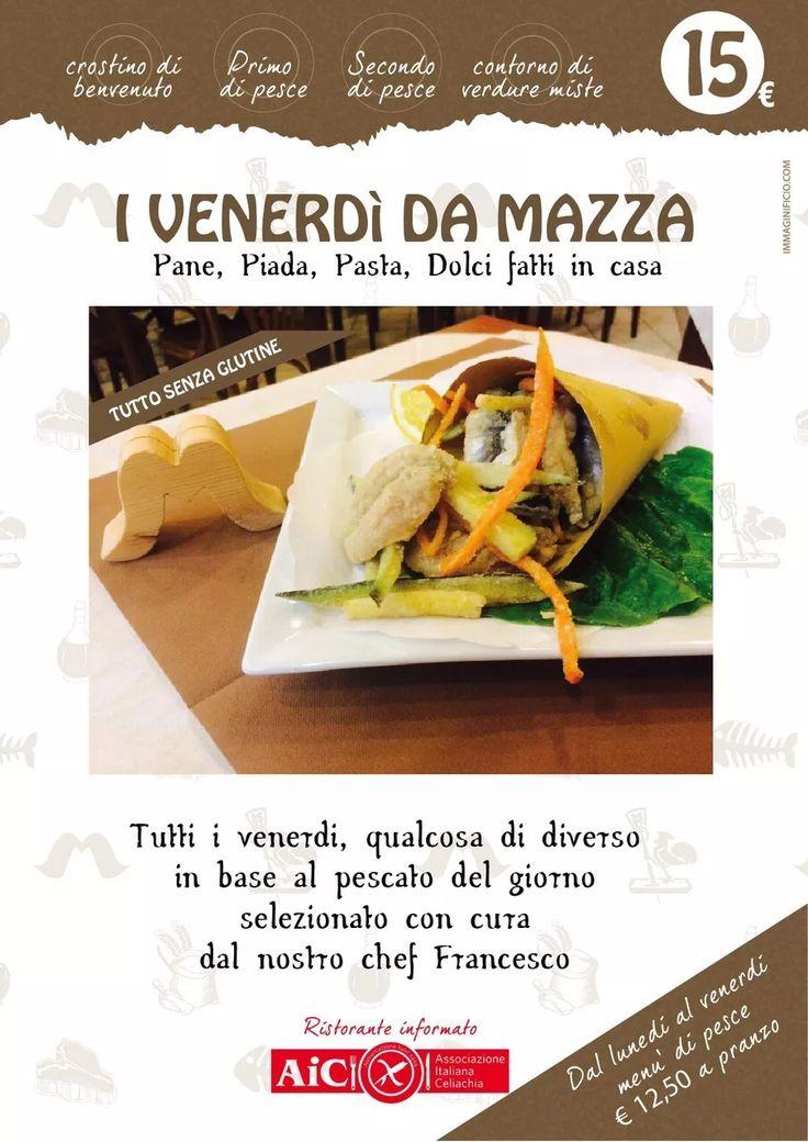 Selezionato con cura dallo Chef Francesco! Menù a base di pesce fresco a soli 12,50€ e ovviamente anche tutto GLUTEN FREE.