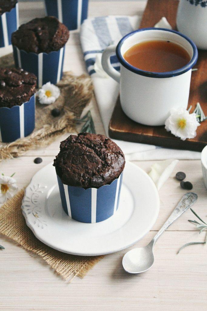 Vegan Double Chocolate Muffins (Starbucks Copycat)