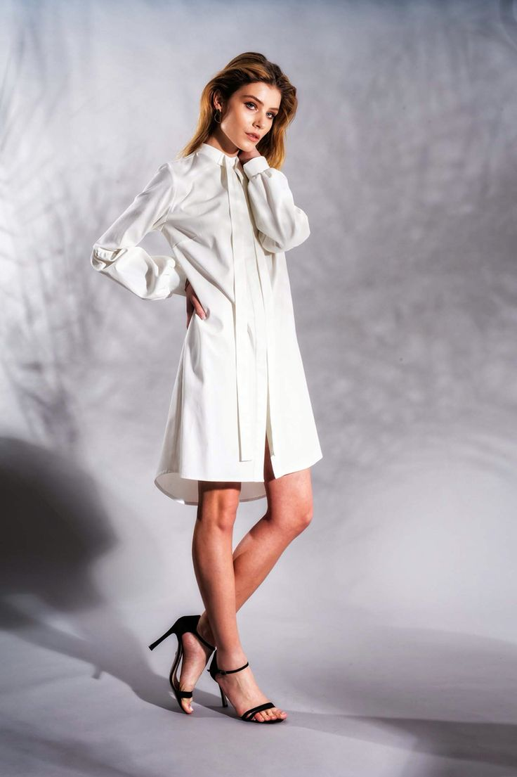 Cotton Bow Dress www.framboise.ro