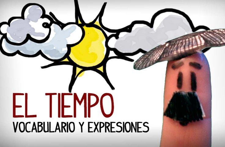 Aprender a decir que tiempo hace, vocabulario y expresiones para describir el tiempo. Conversación y vocabulario inicial español. Clases para aprender españo...