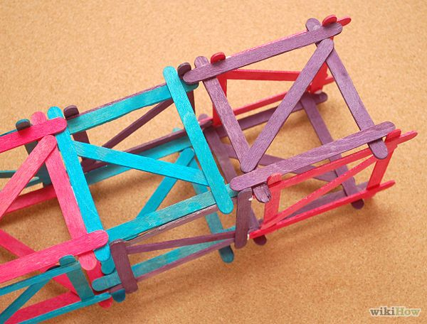 Build a popsicle stick tower popsicles sticks and towers for Making best from waste