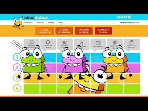 Okos Doboz digitális feladatgyűjtemény, tudáspróba, fejlesztő játék, videótár