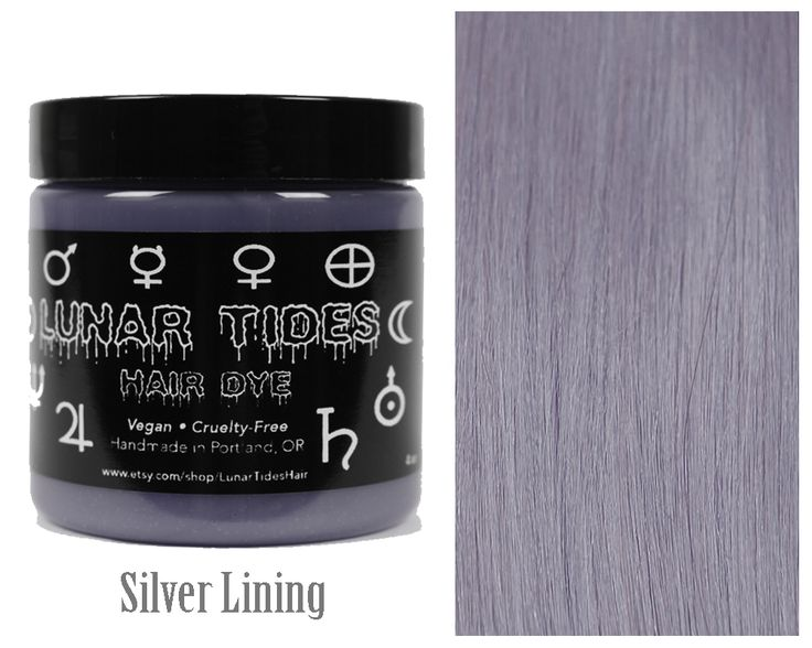 Looking for a new one-of-a-kind hair color? Silver Lining is a one-of-a-kind medium silver hair dye with blue undertones. Vegan and Cruelty Free <3