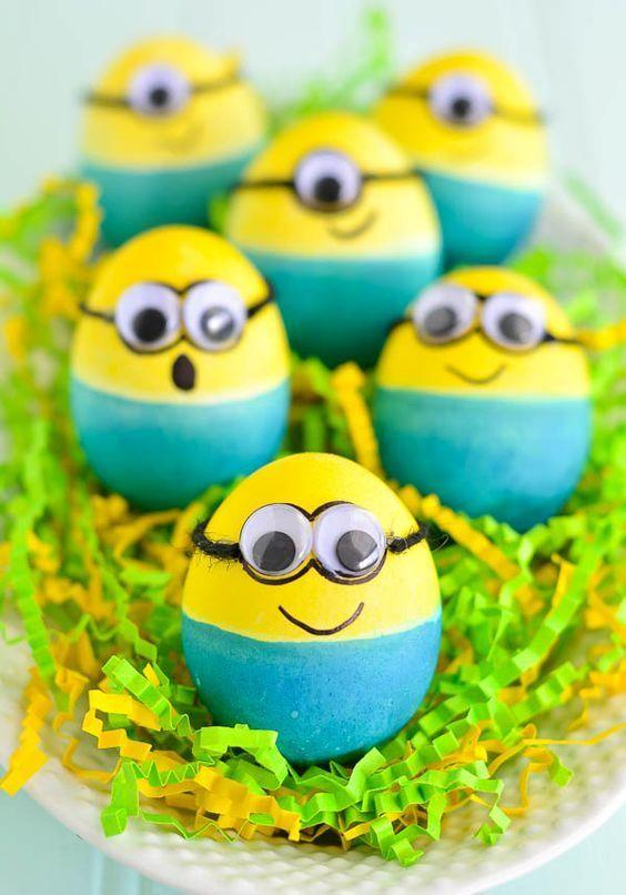 Яйца в виде миньонов своими руками