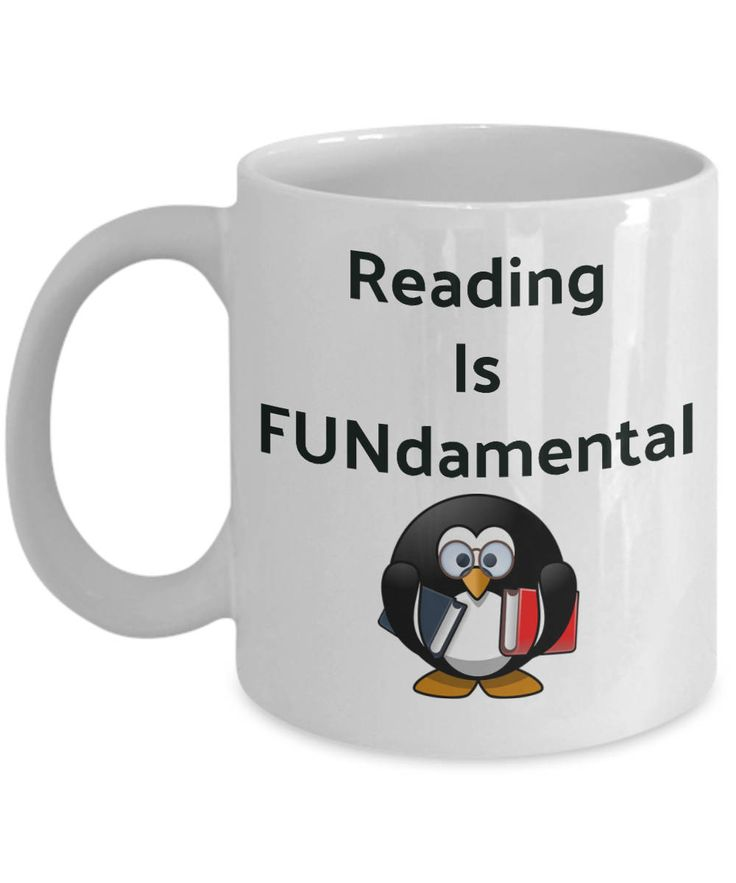 Excited to share the latest addition to my #etsy shop: Novelty Coffee Mugs-Reading Is Fundamental-Tea Gift Cup Mugs With Sayings Readers Funny Bookworms http://etsy.me/2Ci6a7y #housewares #white #ceramic #coffeemugs #coffeecups #teacups #mugswithsayings #giftsforbookwo