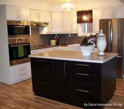 17 best images about white cabinets dark island kitchen on pinterest white kitchen cabinets. Black Bedroom Furniture Sets. Home Design Ideas