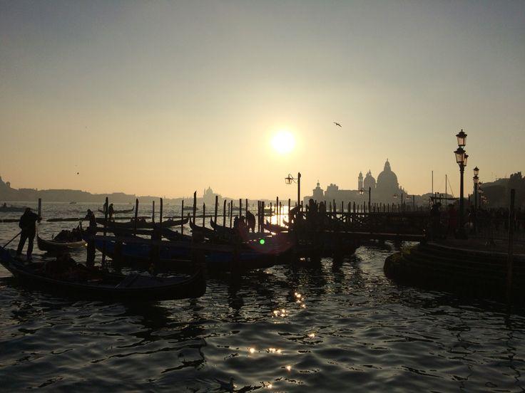 Tramonto romantico a Venezia