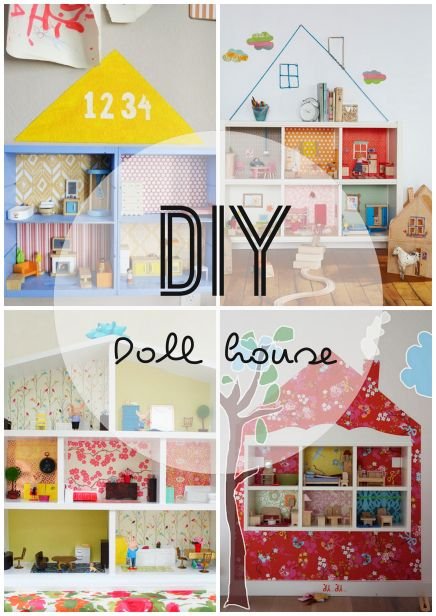 DIY doll house from a bookcase. I want to make one for the boys where each room is super hero related. a bat cave, krypton, etc