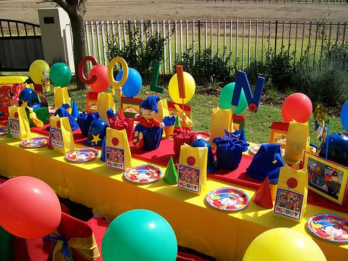 """Noddy"" Party Table by Treasures and Tiaras Kids Parties, via Flickr"