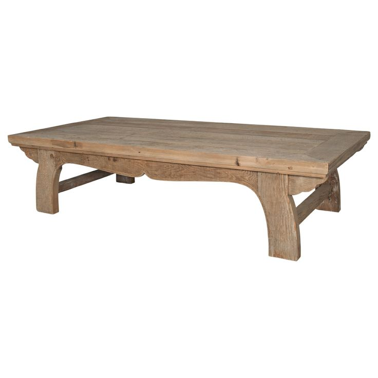 Scandinavian style coffee table in old pine - noticed the scallop details on the legs. Measures 180cm x 90cm x 40cm