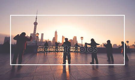 Download - Silhouette people dansing at street — Stock Image #79833582