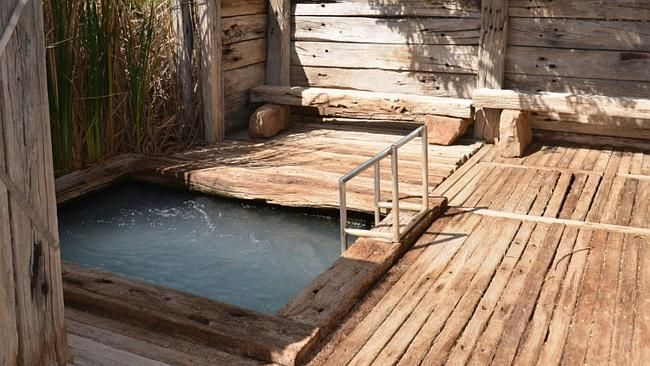 The property on the Oodnadatta Track at Marree comes with a bore-fed pool.