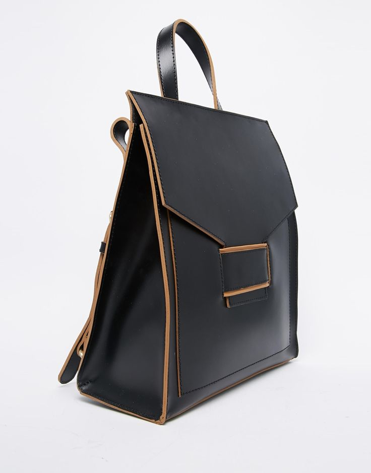 Image 2 of ASOS Everly Premium Leather Backpack