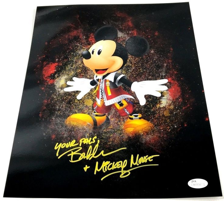 Bret Iwan Autograph 11x14 Photo Mickey Mouse Picture Signed JSA Disney Z1