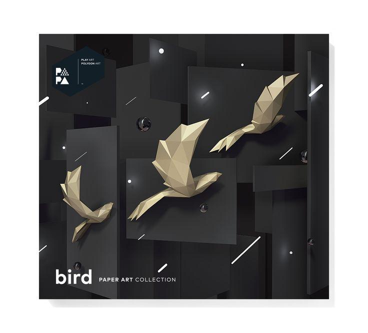 PAPA Bird Gold Package Front   Play Art. Polygon Art. Do Art Yourself.