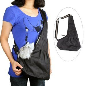 Black Pet Dog Puppy Strap Sling Shoulder Bag Carrier S: Amazon.co.uk: Pet Supplies