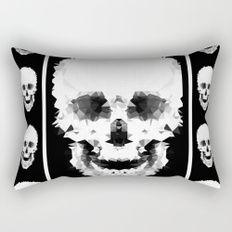 Черно-белый абстрактный узор.  Прямоугольная Подушка