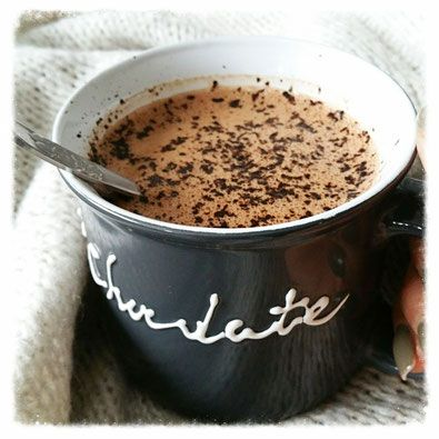 gezonde warme chocolademelk smoothie