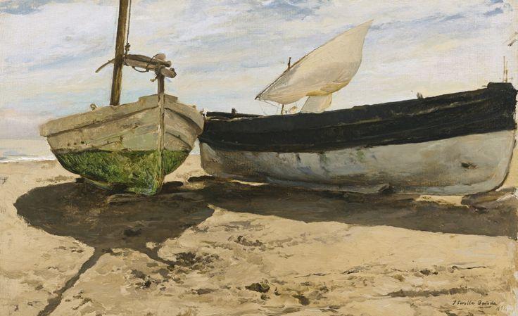 Хоакин Соролья (Соройя). Рыбацкие лодки на пляже, Валенсия