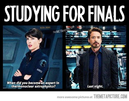 Studying for finals.