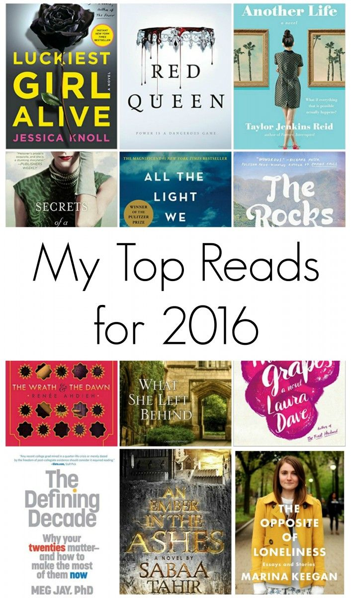 My Top Reads For 2016 Featuring Books Of All Genres This Is The List Of
