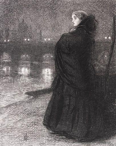 "Sir John Everett Millais  ""The Bridge of Sighs"""