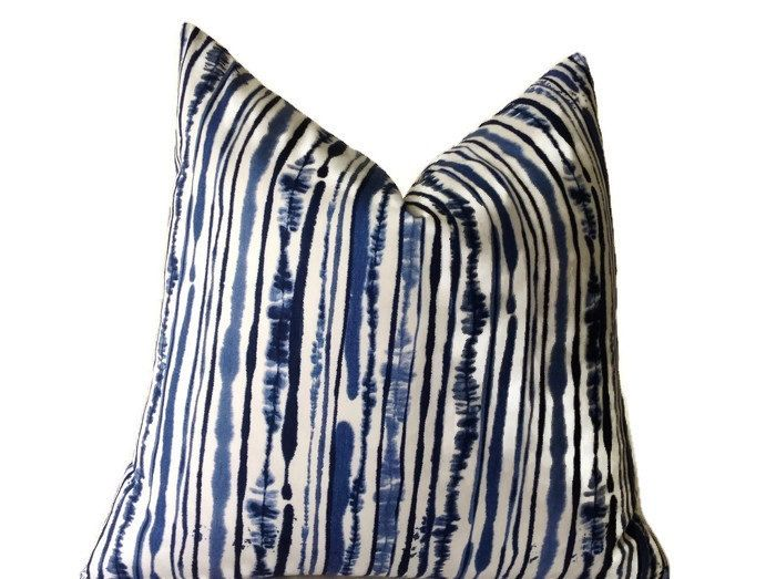 Add A New Look By Using Pillow Covers Made of Designer Fabric!  Decorative Pillow Covers - assorted sizes available, see drop down options  Blue and White Floral Print Fabric on Both Sides.  100% Cotton Fabric  Pairs Great With: https://www.etsy.com/listing/242406485/blue-floral-print-pillow-cover-throw   All pillow covers are sewn professionally, over-locked with finished edges to prevent fraying and has invisible zipper enclosures. This provides long lasting, durabl...
