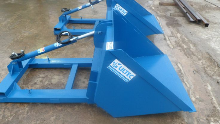 Manufacturer: Multec Engineering.  Model: Hydraulic Forklift Bucket  Manufacturer Code: HFB  Warranty : 12 months.  Includes:  10 ton Hydraulic ram cylinder Heavy duty Heavy gauge steel Hardened 12mm steel blade Double bolt on fork clamps Multi use Manufactured, tested and CE marked by Multec Engineering. Ideal for use with forklifts, tele-handlers, loaders etc.   Available in different sizes as follows:  4ft (0.8 cubic meter) 5ft (1.0 cubic meter) 6ft (1.2 cubic meter) 7ft (1.4 cubic meter)