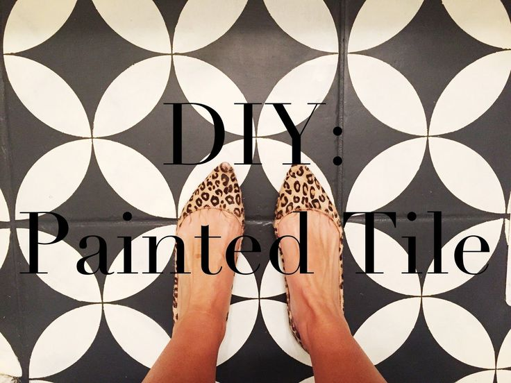 Superb DIY: Painted Tile Floor Tutorial   The Girl Who Painted Her Tile
