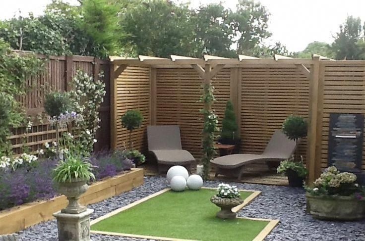 Perfect Pergola And Fence Panels In A Perfect Garden For Small